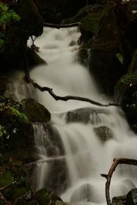 小さな滝の連続