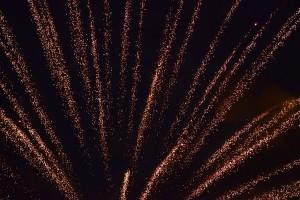 寄居水天宮の花火