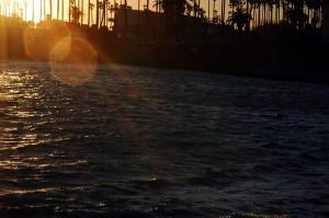 逗子マリーナに沈む夕日
